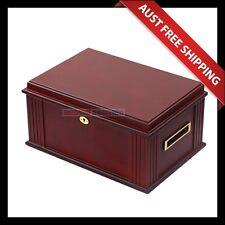 Bellfield Cigar Humidor, 100+ Brown Cedar Cigar Box, Humidifier & Hygrometer