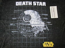 STAR WARS DEATH STAR BLACK HEATHER POLY-BLEND T-Shirt MENS M TIGHT MUSCLE FIT