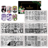 BORN PRETTY Special Offer 5PCS Nail Art Stamping Plates Set Flower