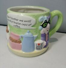 Maxine Collectible~ Huge Coffee Cup 3-D Hallmark Funny Quote Coffee Novelty