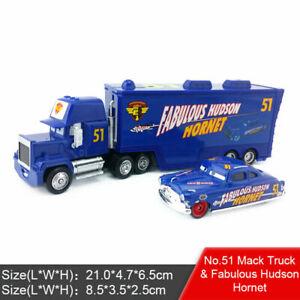 Disney Pixar Cars Fabulous Hudson Hornet & Mack Truck Racing Diecast Play  Toy