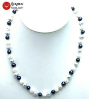 6-7mm White Black Gray Natural Freshwater Pearl Necklace for Women Chokers 17""