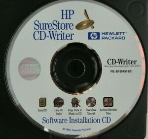 HP Sure Store CD Writer Software installation Computer CD Rom software disc 1996