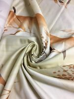 PEACH FLORAL PRINT LUXURIOUS DESIGNER FABRIC BY PANAZ 2.6 METRES