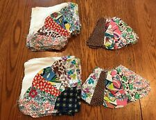 52 Vintage Dresden or Fan Unfinished Quilt Patches 1940's Cotton Fabrics