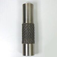 Klassiker Vase  Edelstahl 70er Jahre Skandinavisches Design 20 x 4,5 cm top
