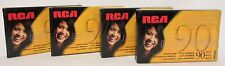 New! RCA RC90 Audio Cassette Tapes Lot Set 4 90 Minute Normal Bias Sealed Blank
