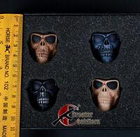 "Hot Toys 1/6 Scale Walking dead Mask Skeleton Ghost Skull For 12"" Action Figure"