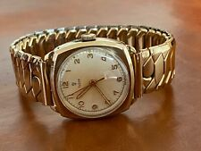 Vintage Rare 9ct Solid Gold Rolex Tudor Cushion Watch Manual Wind Rose Dial
