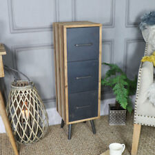 Tall industrial retro chest of drawers storage cabinet vintage bedroom office