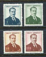 30980) Turkey 1968 MNH Ataturk 4v Scott #1767/70