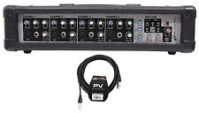Rockville RPM45 2400w Powered 4-Ch Mixer, 5 Band EQ, FX, Phantom + Peavey Cable