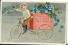 early new years eve postcard dated 1913