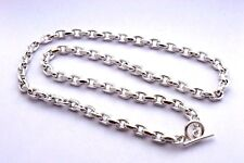 """Long Taxco Mexican 925 Sterling Silver Cable Chain. 110g, 75cm, 29.5"""""""
