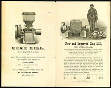 New York c1890 Newell Universal Mill Co Clay Mill Corn Mill Advertising Brochure