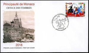 2018 Monaco, 2018 FIFA World Cup Russia™, soccer, football,  FDC