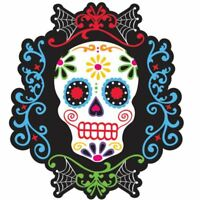 Day of the Dead Cut-outs 26cm Skeleton Halloween Party Decorations