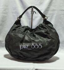 SALVATORE FERRAGAMO Black Leather Hobo Bag