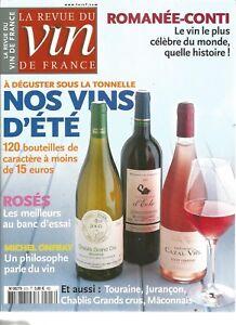 VIN DE FRANCE N°513 ROMANEE-CONTI / ROSES / MICHEL ONFRAY / TOURAINE, JURANCON
