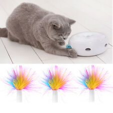 3PCs Pet Automatic Cat Interactive Toys Replace Feather Electronic Rotating Toy