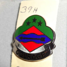 ,CREST,DI, 39TH INFANTRY BRIGADE,CLUTCH BACK, BEE KAY,BRONX HM