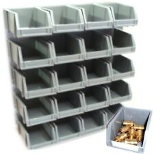 20 storage bins kit with wall mount stacking garage home workshop