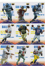 1996 Assets CLEAR ASSETS Complete 22 card Football subset--Young, E Smith, Faulk