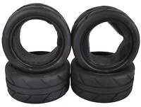 4PCS RC 1/10 On-Road Car Soft Foam Rubber Tyres Tires Fit HSP HPI Redcat 6082