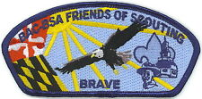 BALTIMORE AREA COUNCIL BRAVE FOS STRIP CSP PATCH BOY SCOUT ORDER  ARROW
