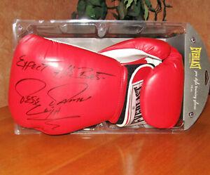 Jesse James Leija Autographed  Boxing Gloves w Everlast Plastic Case No COA