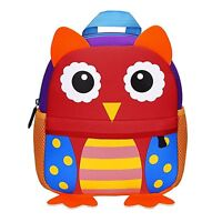 Manleno Unisex Baby/Little Kids Cute 3D Animal Backpack Preschool/Daycare, Owl
