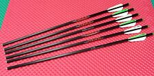 "Easton Carbon Power 22"" Halfmoon Nock Crossbolts 6pk W/ BTV VANES W/W/G #719628"