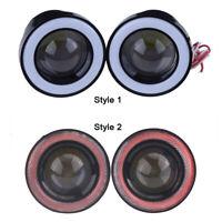 2pcs 2.5'' COB LED Angel Eyes Car DRL Fog Light Lens Projector Halo Fog Lamp