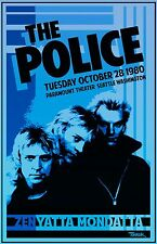 The Police 1980 Tour Poster