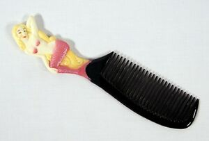 Hand Painted Pink Mermaid Comb 044M