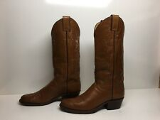 VTG WOMENS JUSTIN COWBOY BROWN BOOTS SIZE 6.5 A
