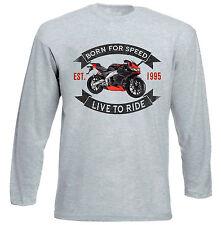 APRILIA RS 125-Grigio T-shirt A Maniche Lunghe-Tutte le taglie in magazzino