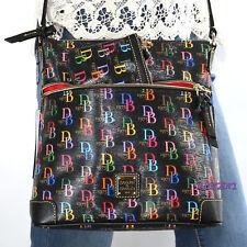 NWT Dooney & Bourke DB 1975 Monogram Crossbody Bag Wristlet Set MDBMU3264 Black