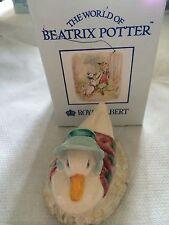 Royal Albert Beatrix Potter Jemima Puddle Duck-ha fatto una piuma NIDO IN SCATOLA NUOVO