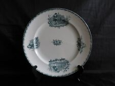 "grand plat rond en faience de saint amand,service ""groupe d'enfants"""