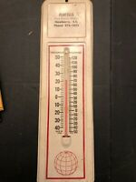 Metal Advertising Thermometer Purcells Private Bankers Newberry SC