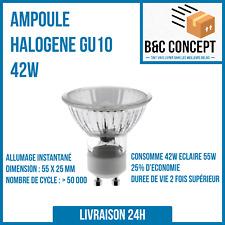 GU10 Ampoule Spot Halogène 42W Lampe Bulb Blanc Chaud 230V