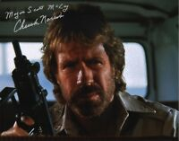 CHUCK NORRIS 'The Delta Force' Signed Autographed 11x14 Photo K