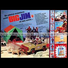 Mattel BIG JIM Jeep Tente... 1977 - Pub Publicité Vintage Action Figure Ad #A214