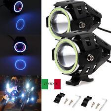 2pcs 125W U7 LED Fendinebbia luce da lavoro luce di guida per moto Impermeabile