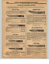 1927 PAPER AD 2 PG Marble's Hunting Knife Knives Ideal Hilt Canoe Woodcraft