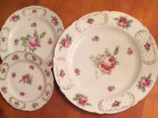 "Vintage Schumann ""Bavaria"" Germany China-3 Ea Dinner, Salad, and Dessert Plates-"