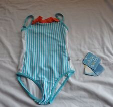 Girls size  3 One piece BATHERS stripe White Soda Chlorine Resistant UPF50+ NEW