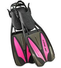 Scubapro Jet Sport Adjustable Fins - Black/Pink - NEW - LARGE