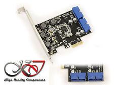 Carte Contrôleur PCIE NEC USB 3.0 SUPERSPEED - 2 Connecteurs 19 points interne